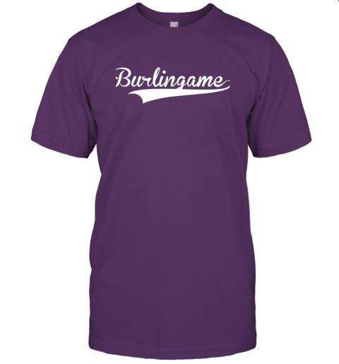 4j6a burlingame baseball softball styled jersey t shirt 60 front team purple