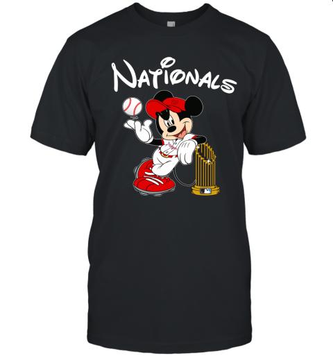 Washington Nationals Mickey Taking The Trophy MLB 2019 Unisex Jersey Tee
