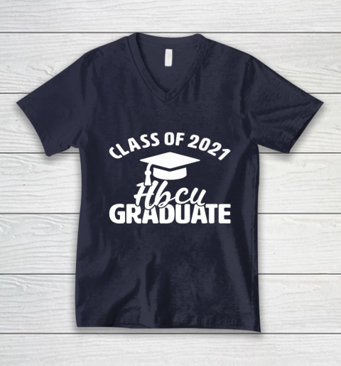 HBCU Alumni Apparel Class Of 2021 HBCU Grad V-Neck T-Shirt 2