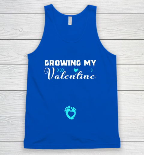 Cute Growing my Valentine Gift for Women pregnancy Tank Top 4