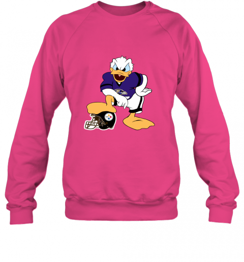 sflm you cannot win against the donald baltimore ravens nfl sweatshirt 35 front heliconia
