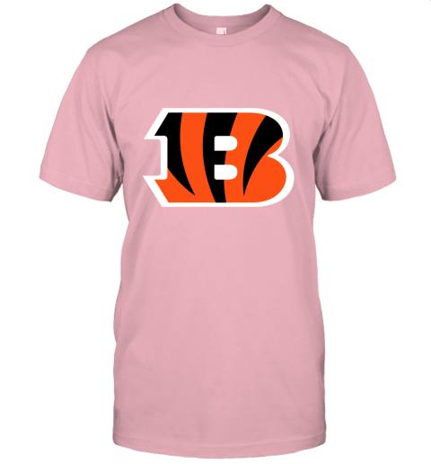6sdv cincinnati bengals nfl line gray victory jersey t shirt 60 front pink