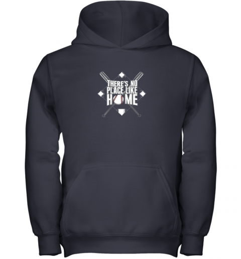 yz95 there39 s no place like home baseball tshirt mom dad youth youth hoodie 43 front navy