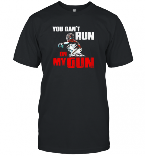 cwls you cant run on my gun shirt baseball jersey t shirt 60 front black