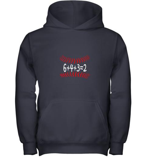 txbo funny baseball 6432 double play shirt i gift 6 4 32 math youth hoodie 43 front navy