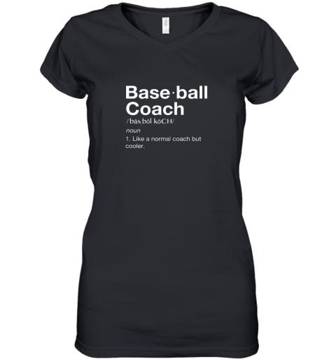Coach Baseball Shirt Team Coaching Women's V-Neck T-Shirt