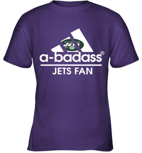 xdyk a badass new york jets mashup adidas nfl youth t shirt 26 front purple