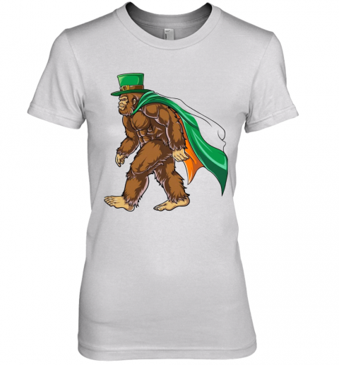 St Patrick'S Day Bigfoot Premium Women's T-Shirt