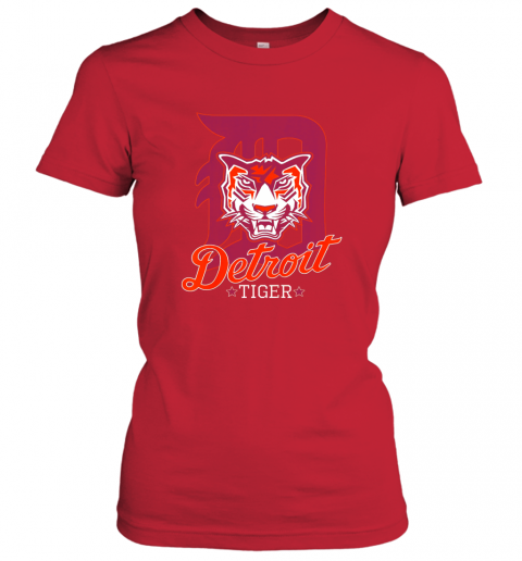 dxrh tiger mascot distressed detroit baseball t shirt new ladies t shirt 20 front red