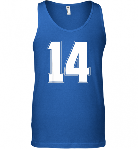 um7d halloween group costume 14 sport jersey number 14 14th bday unisex tank 17 front royal