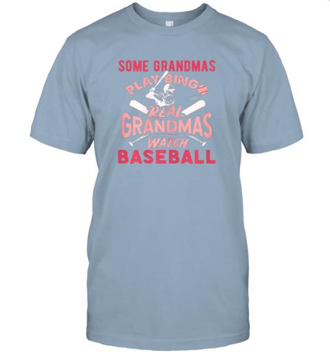 peoz some grandmas play bingo real grandmas watch baseball gift jersey t shirt 60 front light blue
