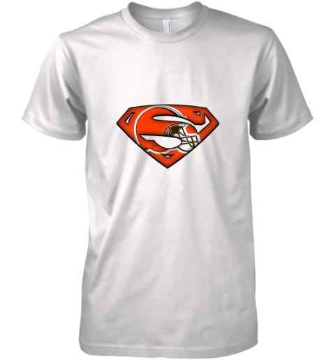 We Are Undefeatable The Cleveland Browns x Superman NFL Premium Men's T-Shirt