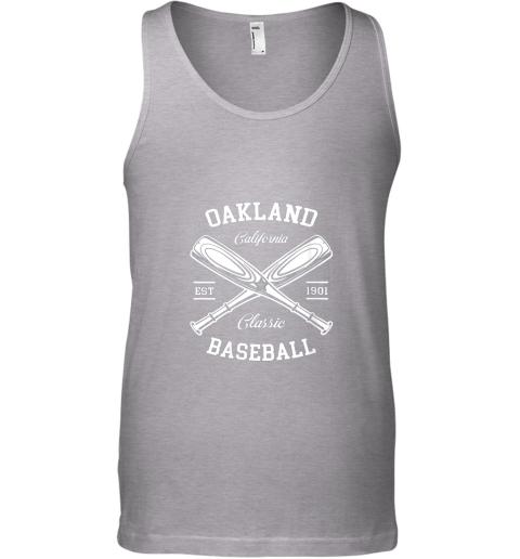 iszv oakland baseball classic vintage california retro fans gift unisex tank 17 front sport grey