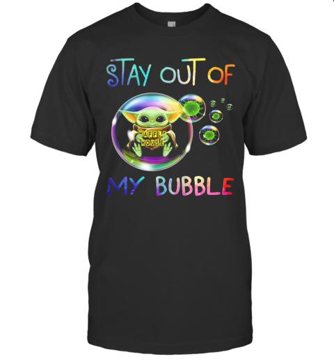 Baby Yoda Hug Waffle House Stay Out Of My Bubble Coronavirus T-Shirt