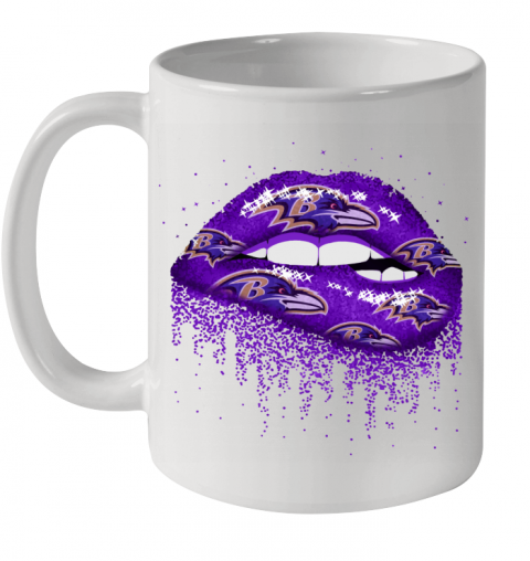 Sexy Lips Baltimore Ravens NFL Ceramic Mug 11oz