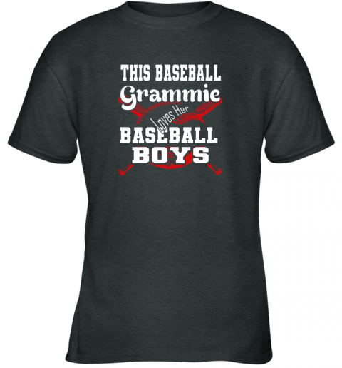 xvqk this baseball grammie loves her baseball boys youth t shirt 26 front dark heather