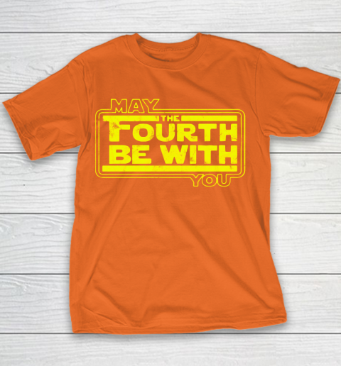 Star Wars Shirt May The 4th Be With U You  Fourth  Funny Movie Youth T-Shirt 4