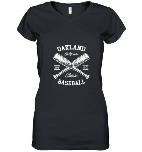 Oakland Baseball, Classic Vintage California Retro Fans Gift Women's V-Neck T-Shirt