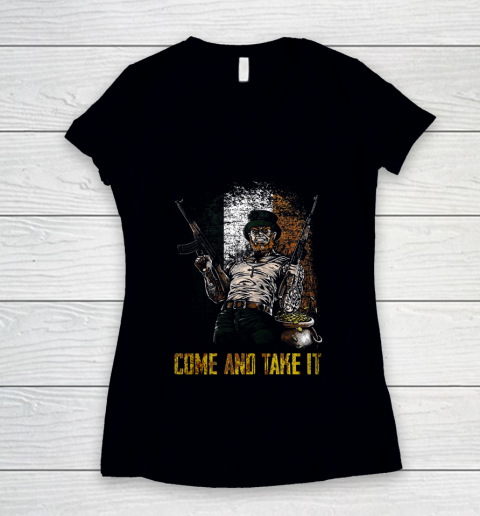Come And Take It Irish Women's V-Neck T-Shirt