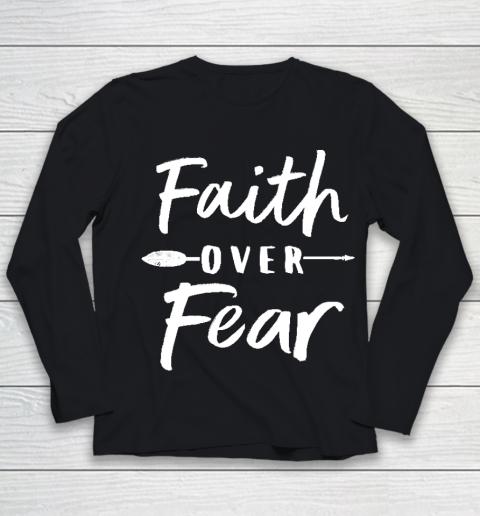 Faith Over Fear Fitted Youth Long Sleeve