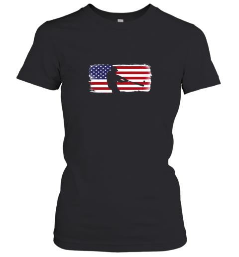 USA American Flag Baseball Player Perfect Gift Women's T-Shirt