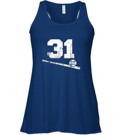 dxn9 vintage baseball jersey number 31 shirt player number flowy tank 32 front true royal
