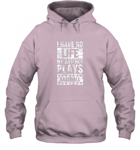 cf4z i have no life my brother plays baseball funny sister hoodie 23 front light pink