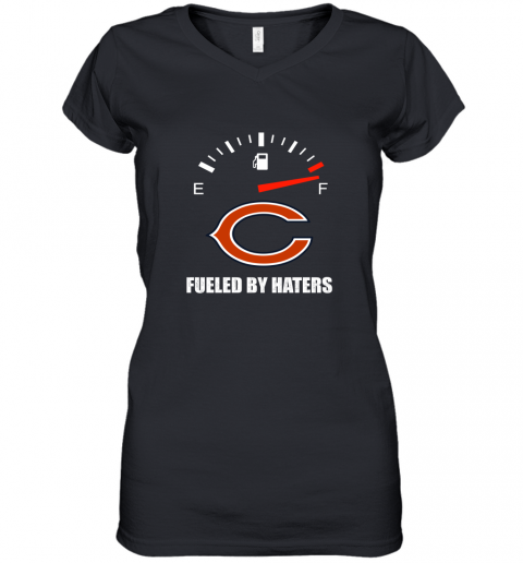 Fueled By Haters Maximum Fuel Chicago Bears Women's V-Neck T-Shirt
