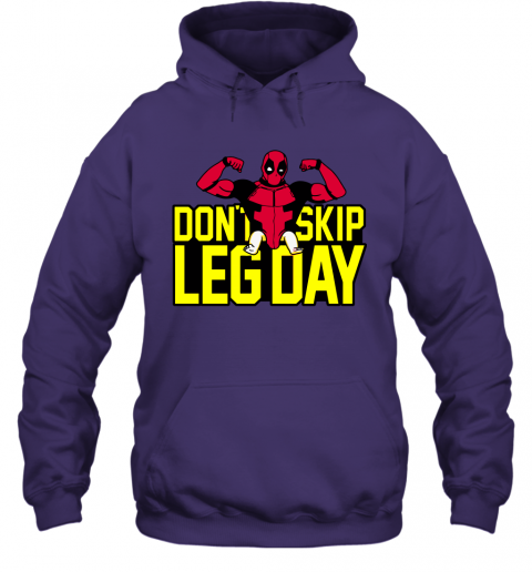 mudr deadpool dont skip leg day workout at the gym shirts hoodie 23 front purple