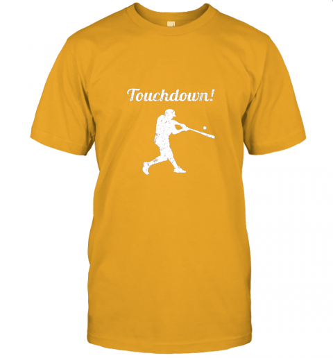 381s touchdown funny baseball jersey t shirt 60 front gold
