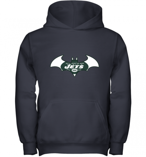 9ugy we are the new york jets batman nfl mashup youth hoodie 43 front navy