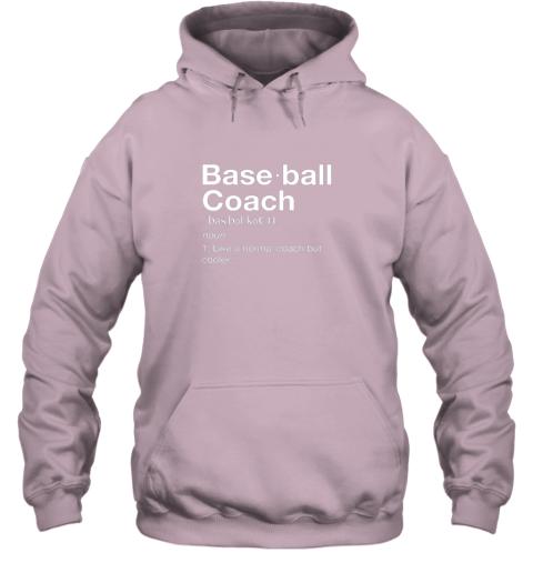 m9mb coach baseball shirt team coaching hoodie 23 front light pink