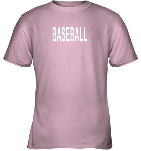 lgz3 shirt that says baseball youth t shirt 26 front light pink