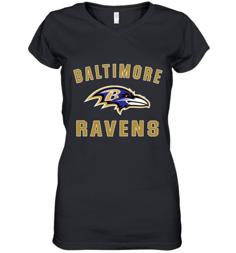 4thx mens baltimore ravens nfl pro line by fanatics branded gray victory arch t shirt women v neck t shirt 39 front black