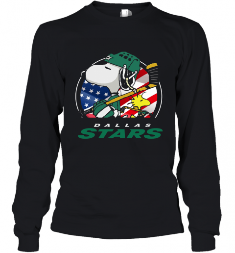 wpsq-dallas-stars-ice-hockey-snoopy-and-woodstock-nhl-youth-long-sleeve-50-front-black-480px