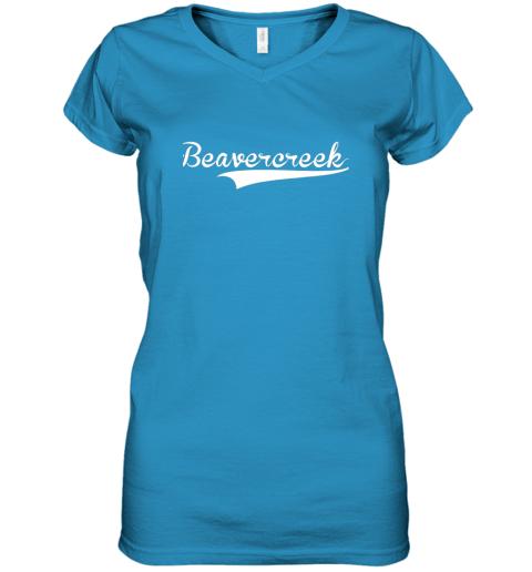 c0yn beavercreek baseball styled jersey shirt softball women v neck t shirt 39 front sapphire