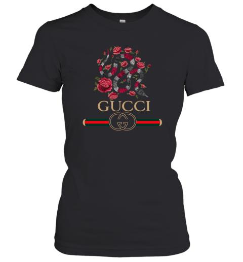 Gucci Logo Snake Womens T-Shirt
