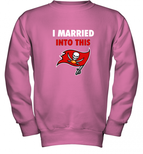 apqh i married into this tampa bay buccaneers football nfl youth sweatshirt 47 front safety pink