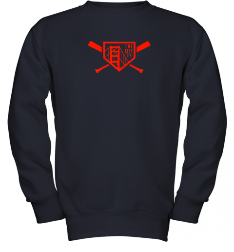 wsxy cool san francisco baseball the city bridge sfo youth sweatshirt 47 front navy