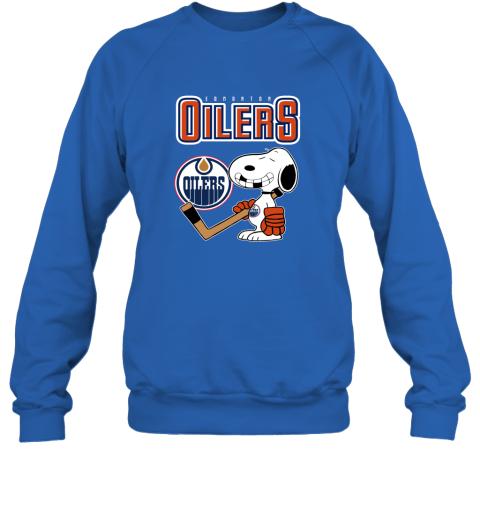 biud edmonton oilers ice hockey broken teeth snoopy nhl shirt sweatshirt 35 front royal