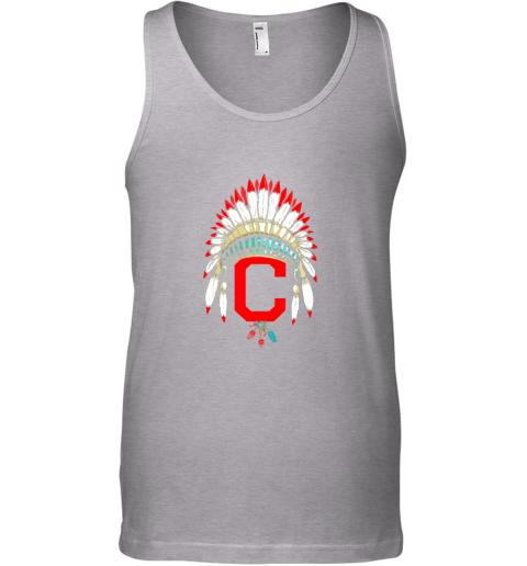 kv7l new cleveland hometown indian tribe vintage for baseball unisex tank 17 front sport grey