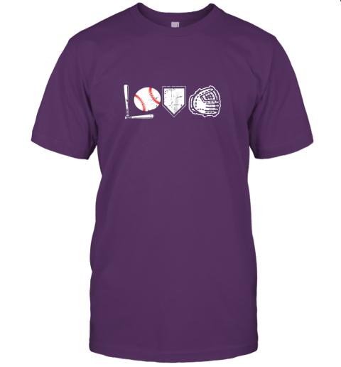 aukp i love baseball baseball heart jersey t shirt 60 front team purple