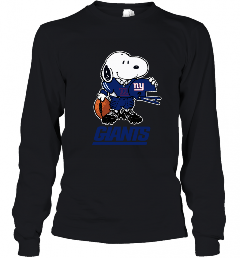 Snoopy A Strong And Proud New York Giants NFL Youth Long Sleeve
