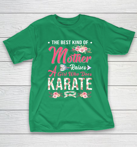 Karate the best kind of mother raises a girl T-Shirt 5