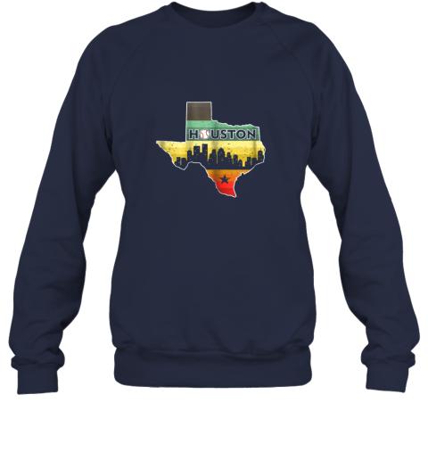 hpto houston retro baseball shirtvintage houston baseball sweatshirt 35 front navy