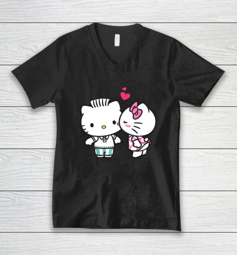 Hello Kitty and Dear Daniel Valentine Tee V-Neck T-Shirt