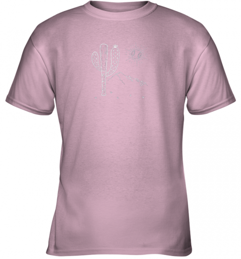 wr3z cactus baseball bat image shirt for america39 s pastime fan youth t shirt 26 front light pink