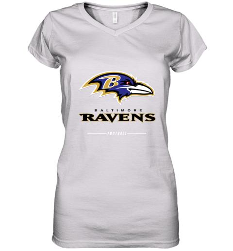 Men_s baltimore ravens NFL Pro Line Black Team Lockup T Shirt Women's V-Neck T-Shirt
