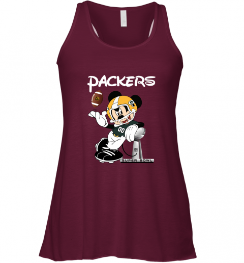 v02q mickey packers taking the super bowl trophy football flowy tank 32 front maroon