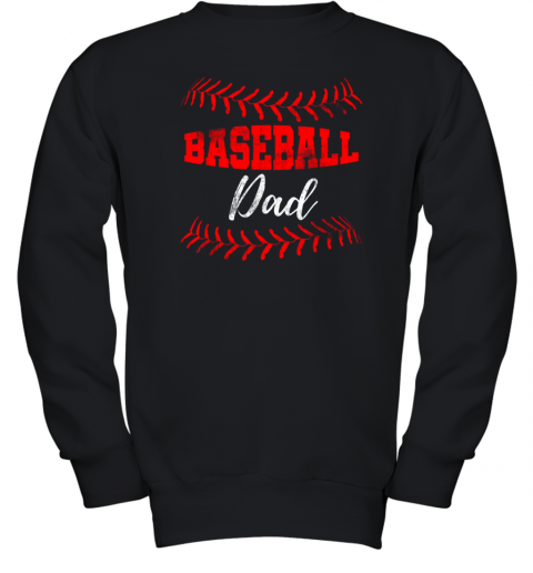 Mens Baseball Inspired Dad Fathers Day Youth Sweatshirt
